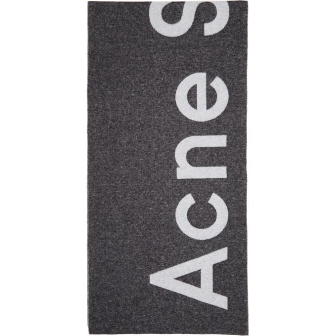 Acne Studios ブラック Toronty マフラー