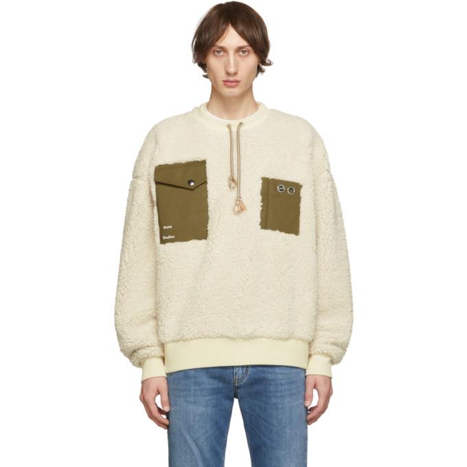 Acne Studios Off-White Polar Fabion Sweater