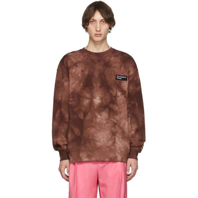 Acne Studios Burgundy Tie-Dye Anatomy Patch Sweatshirt