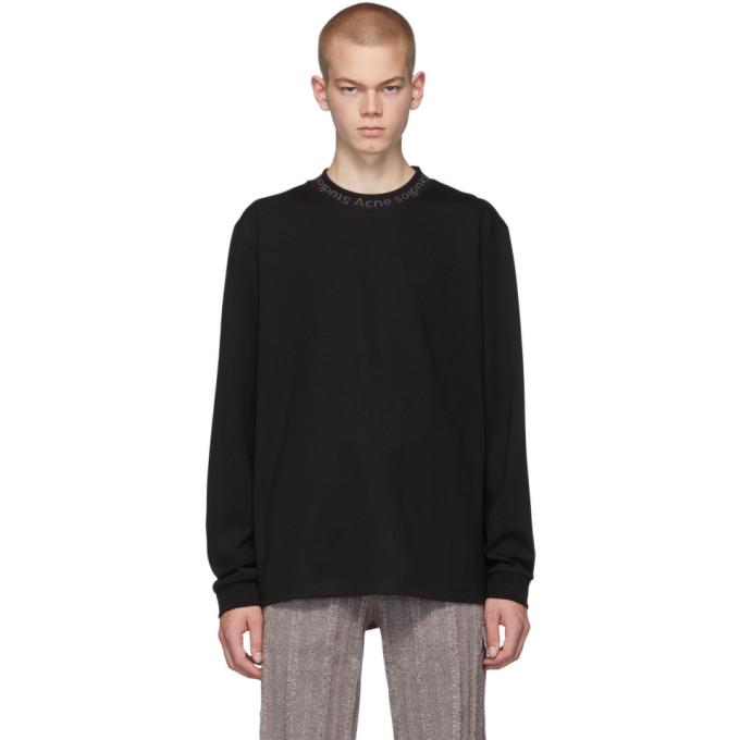 Acne Studios Black Elogho Long Sleeve T-Shirt