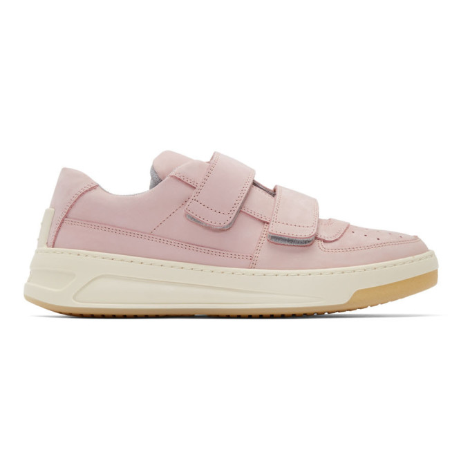 Acne Studios Pink Suede Perey Sneakers