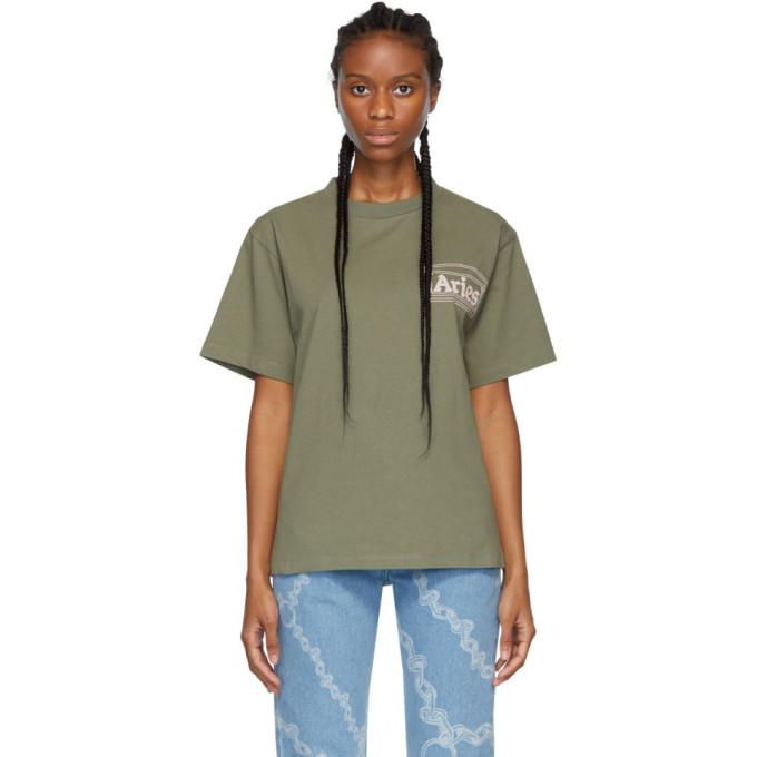 Aries T-shirt vert Classic Temple