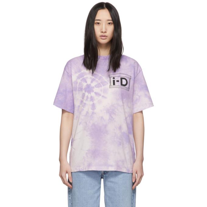Aries T-shirt a motif tie-dye mauve edition i-D
