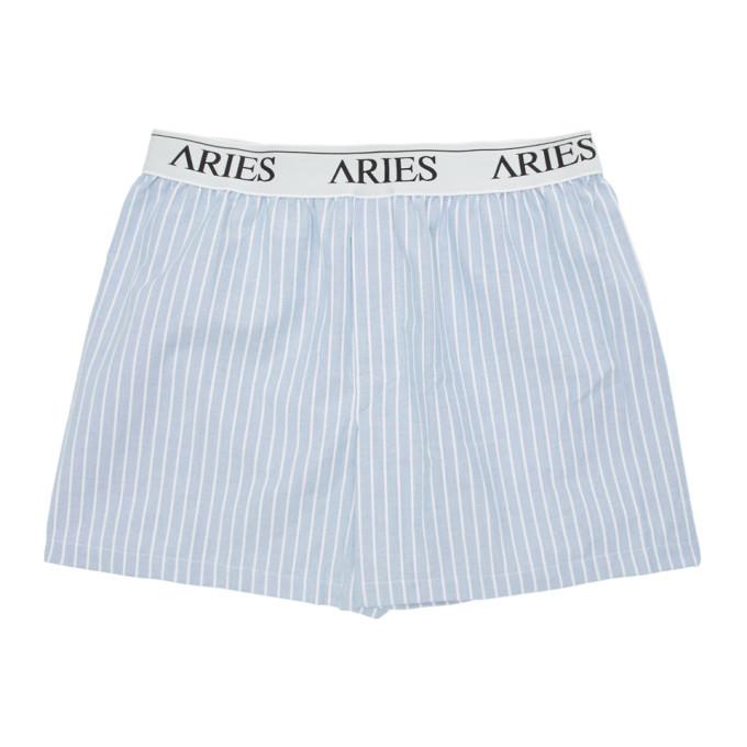 Aries Boxer bleu Narrow Stripe