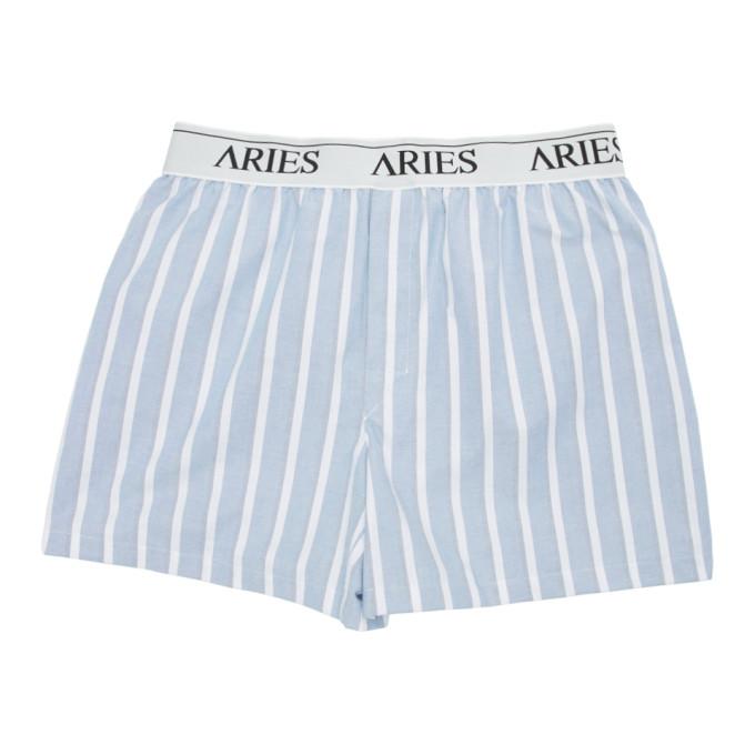 Aries Boxer bleu Wide Stripe