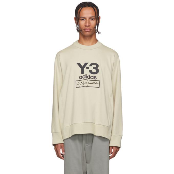 Y-3 Off-White Stacked Logo Sweatshirt