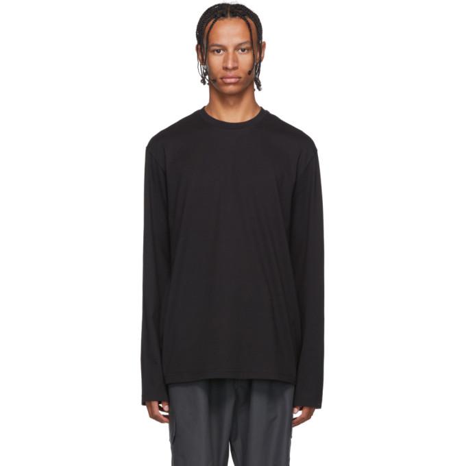 Y-3 Black Toketa Print Long Sleeve T-Shirt