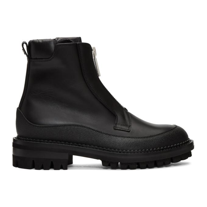 Dsquared2 Black William Flat Zip Boots