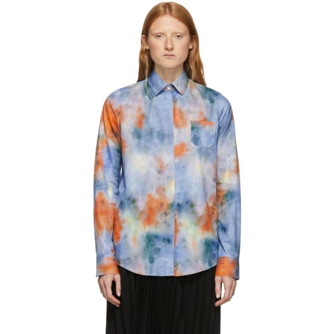 Rokh Chemise a motif tie-dye multicolore Mismatch