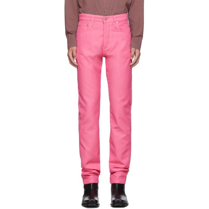 Helmut Lang Pink Masc Hi Straight Jeans