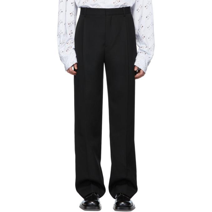 Botter Pantalon en laine noir Classic