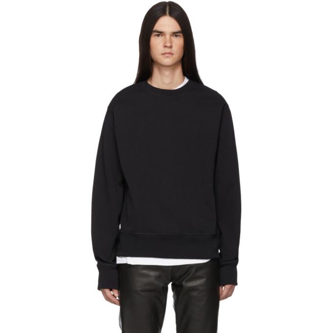 Helmut Lang Black Masc Crew Sweatshirt