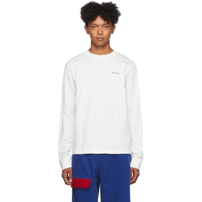 Botter T-shirt a manches longues et logo blanc
