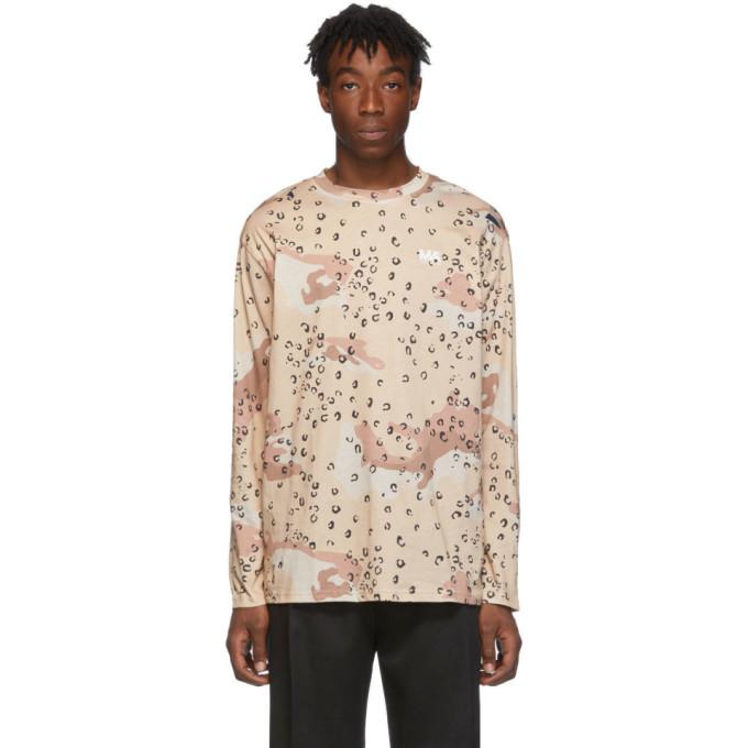 Martin Asbjorn T-shirt a manches longues brun Camo Leopard M.A.