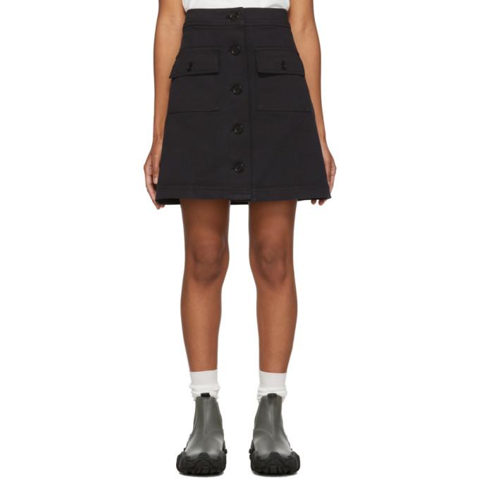 YMC Mini-jupe noire Rapture