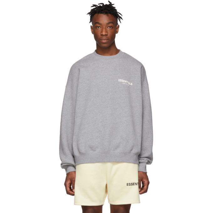 ESSENTIALS | Essentials Grey Pullover Crewneck Sweatshirt | Goxip