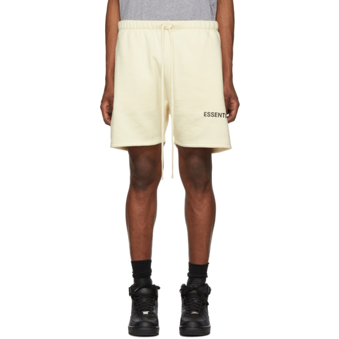 Essentials Off-White Fleece Sweat Shorts