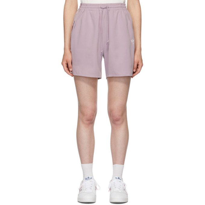 bb2d519fb39 Adidas Originals By Danielle Cathari Purple Satin Shorts in A32S Soft V