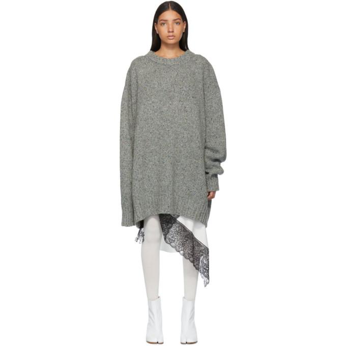MAISON MARGIELA | Maison Margiela Grey Gauge 3 Sweater | Goxip