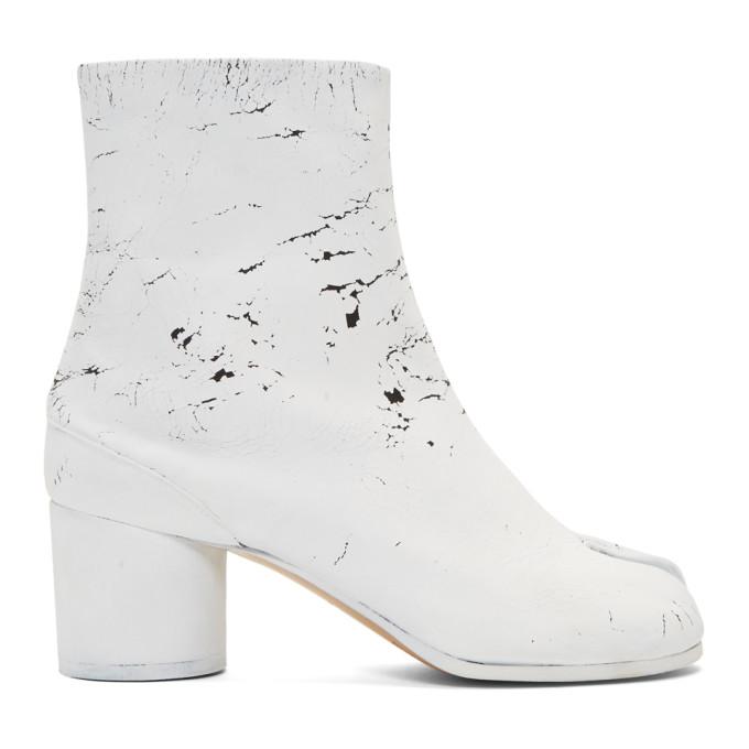 Maison Margiela Black White-Out Tabi Boots