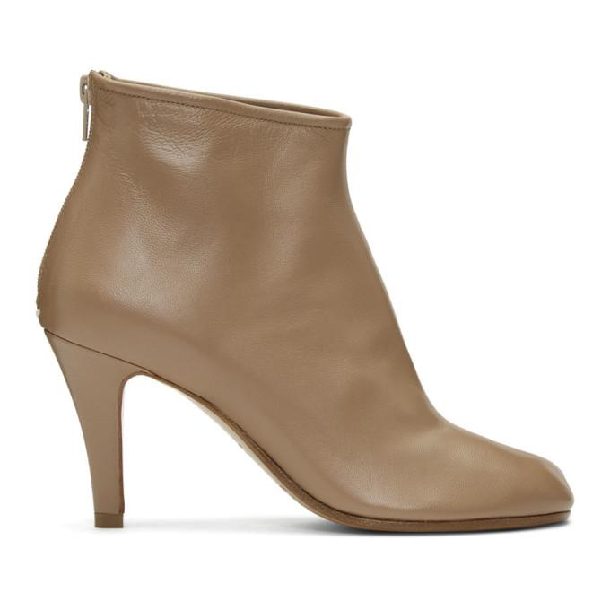 Maison Margiela Tan Stiletto Tabi Boots