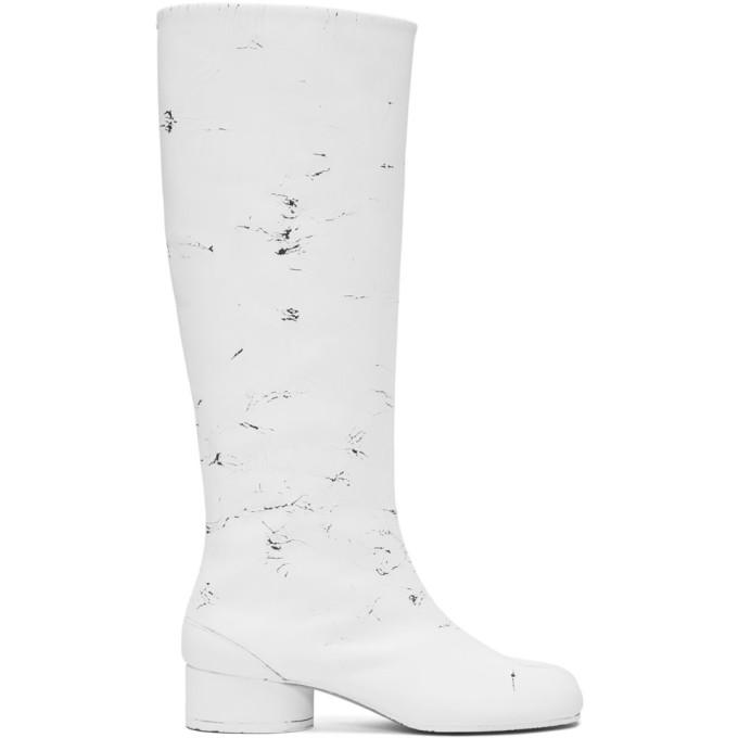 Maison Margiela White Tabi Riding Boots