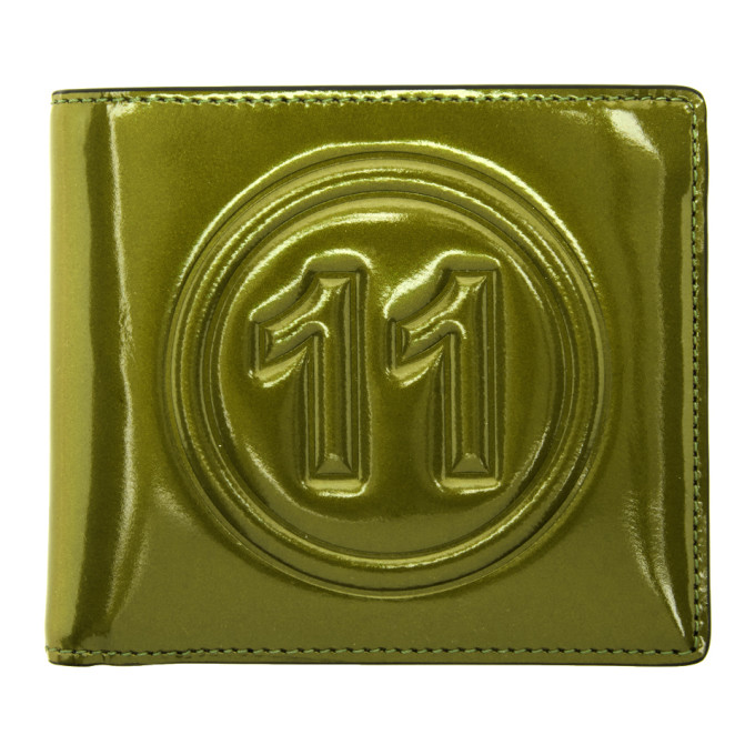 Maison Margiela Green Metallic Wallet