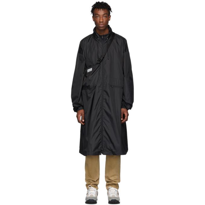 Maison Margiela Black Nylon Coat