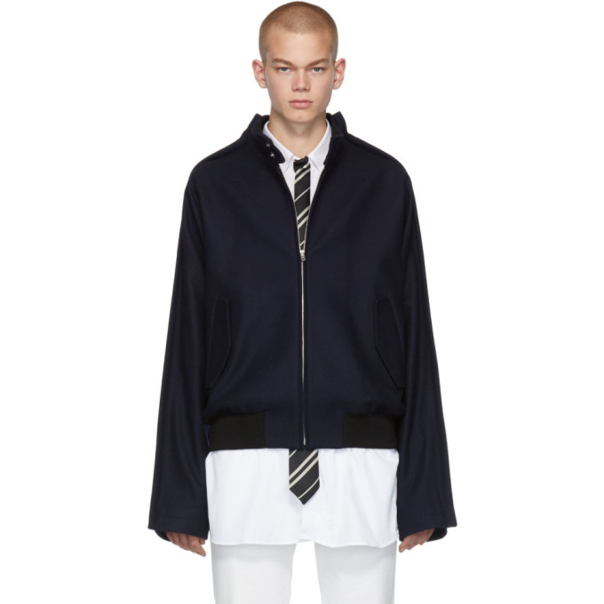 Maison Margiela Blue Wool Traditional Jacket