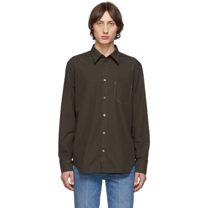 Maison Margiela ブラウン コットン シャツ