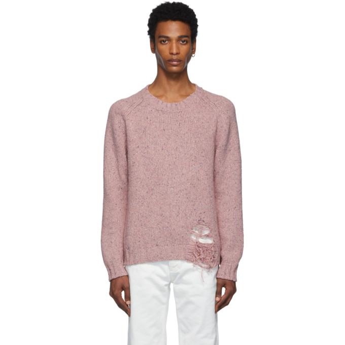 Maison Margiela ピンク ゲージ 3 セーター
