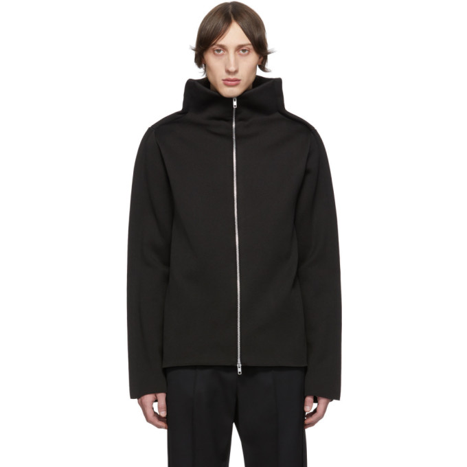 Maison Margiela Black Gauge 12 Zip-Up Sweater