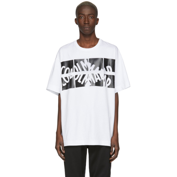 Colmar A.G.E. by Shayne Oliver T-shirt a logo blanc et noir Unisex