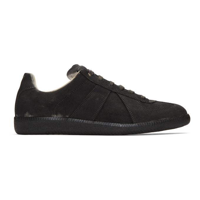Maison Margiela Black Coated Replica Sneakers