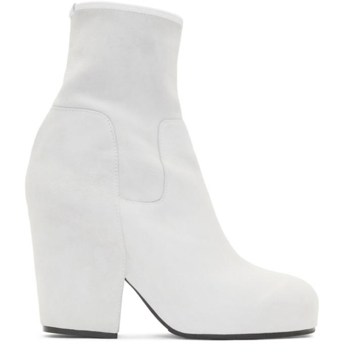 Buy Random Identities White Suede BO3 Boots online