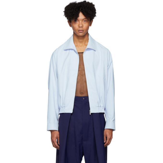 Random Identities Random Identities Blue Zip-Up Jacket