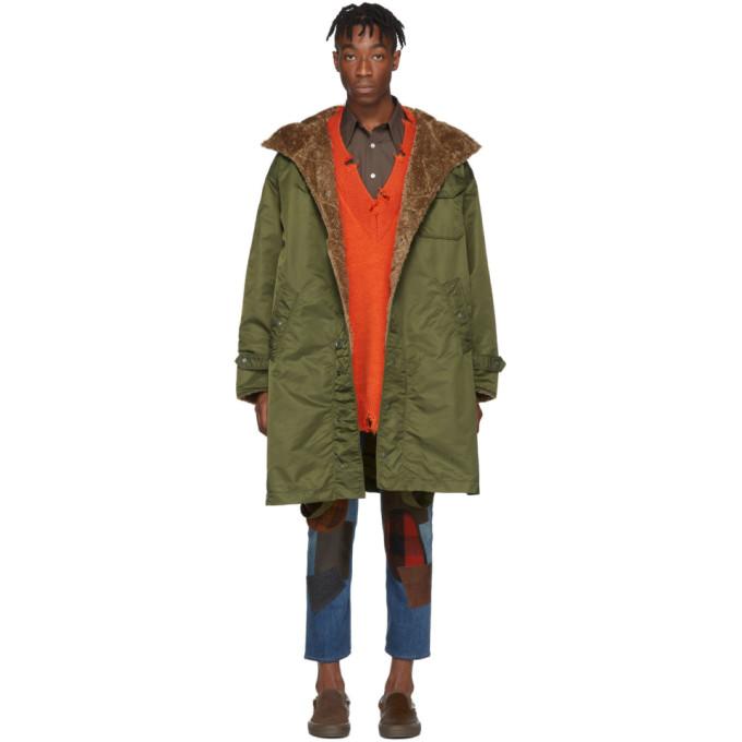 Engineered Garments Green Coastline Parks Coat In Ct064 Olive
