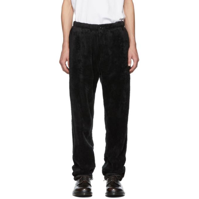Engineered Garments Pantalon de survetement noir Shaggy Fleece