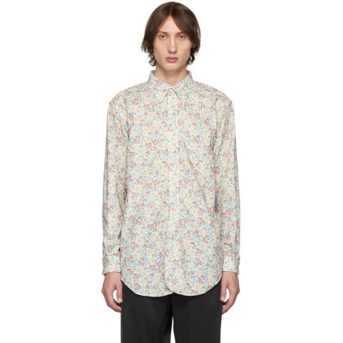 Engineered Garments Chemise fleurie blanche Century