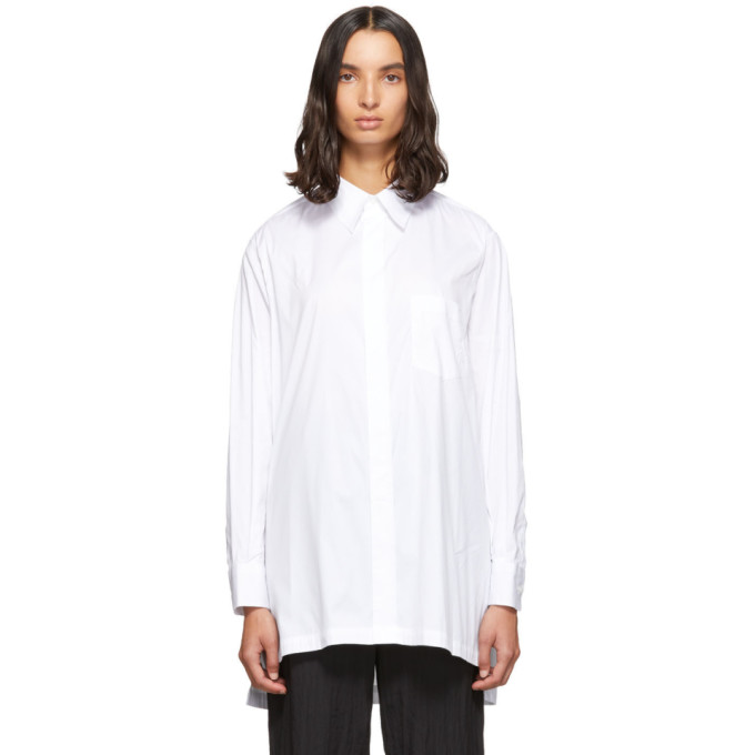 Fumito Ganryu Chemise blanche Piko Embroidery Side Line