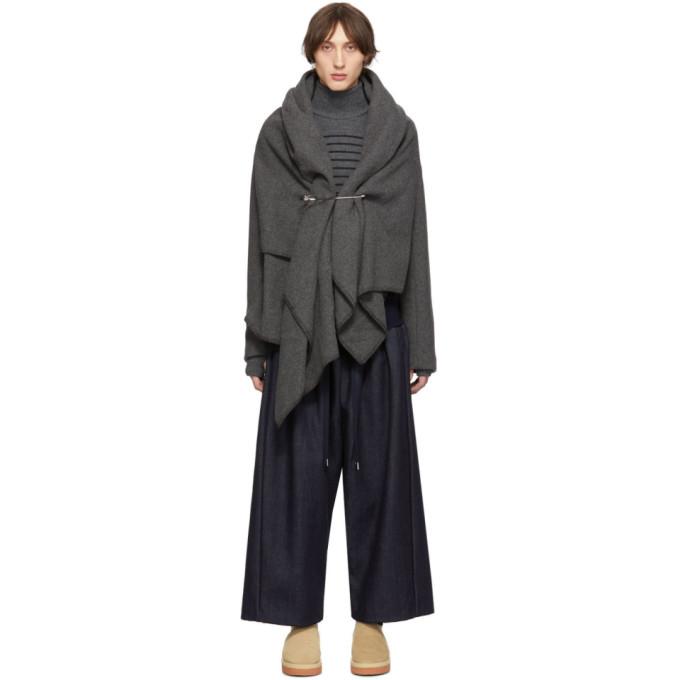 Fumito Ganryu Blouson gris Blanket