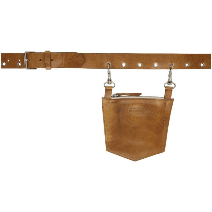 Dheygere Ceinture en cuir brun clair Pocket