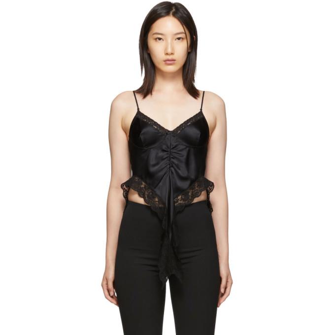 Alexander Wang Camisole en soie noire Lingerie