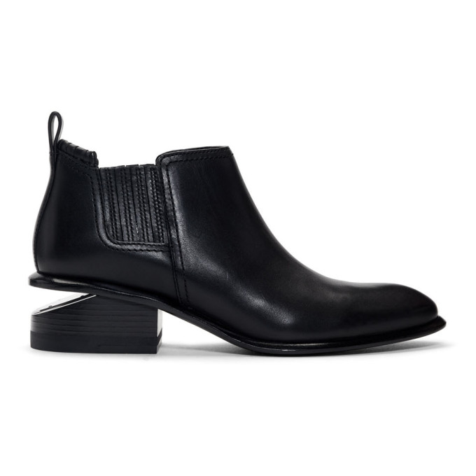 Alexander Wang Black and Silver Kori Boots