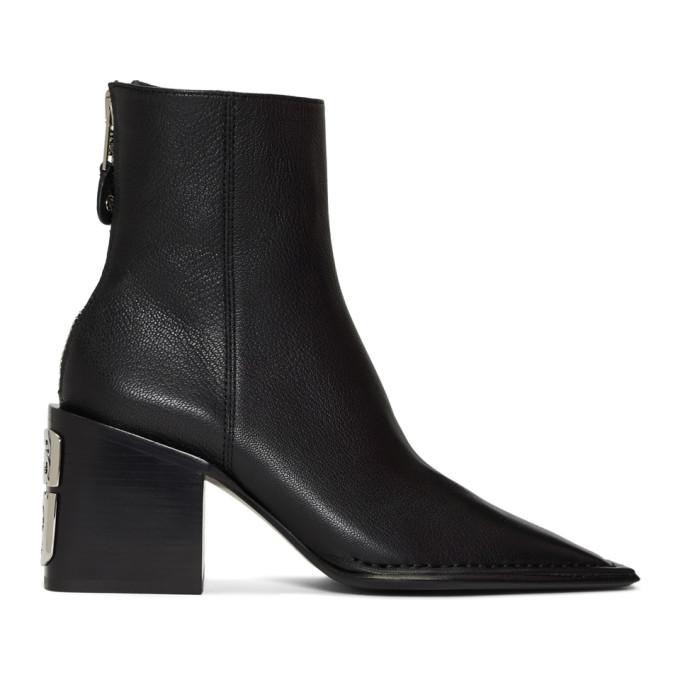 Alexander Wang Black Grain Parker Boots