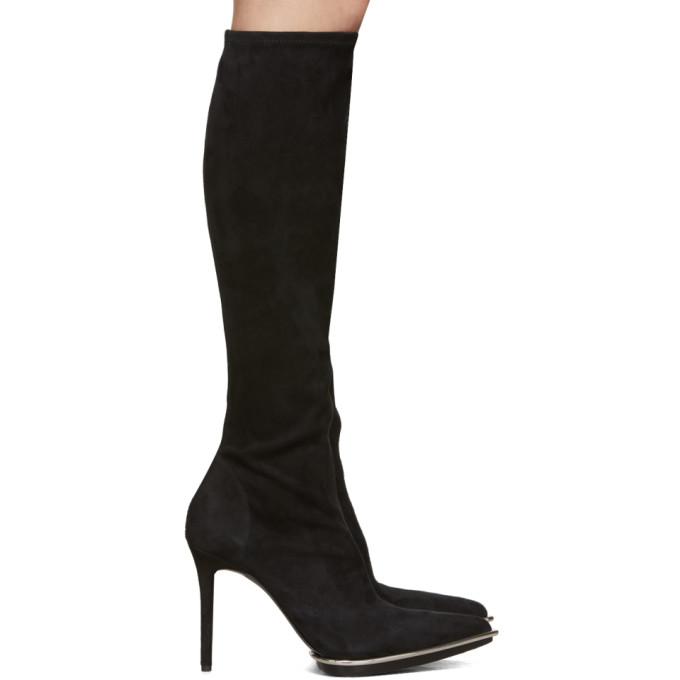Alexander Wang Black Suede Cara Boots