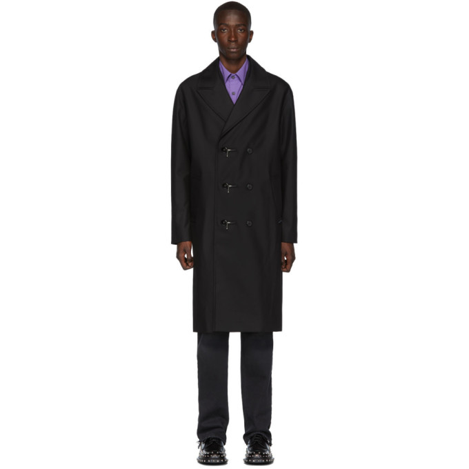 Alexander Wang Coats ALEXANDER WANG BLACK COMPACT COTTON TRENCH COAT