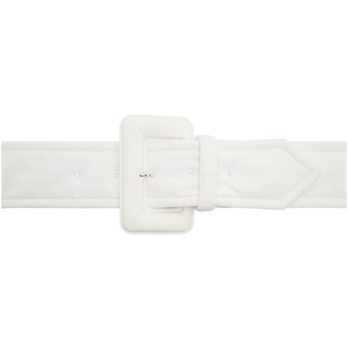 MM6 Maison Margiela Ceinture rembourree blanche