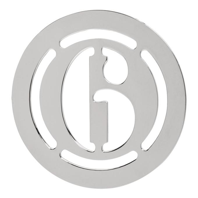 MM6 | MM6 Maison Margiela Silver Logo Earring | Goxip