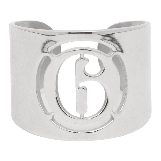 MM6 | MM6 Maison Margiela Silver Logo Ring | Goxip
